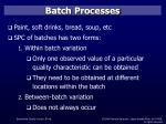 batch processes
