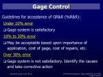 gage control56