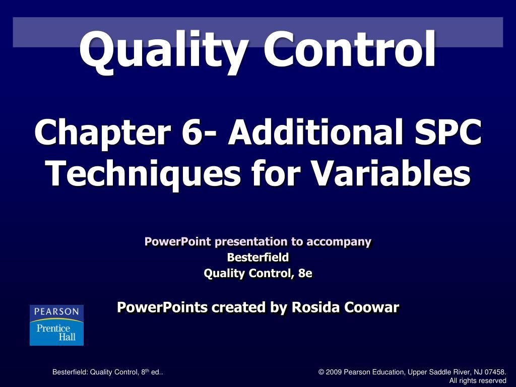 quality control l.