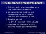 tolerance precontrol chart