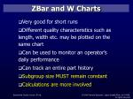 zbar and w charts28
