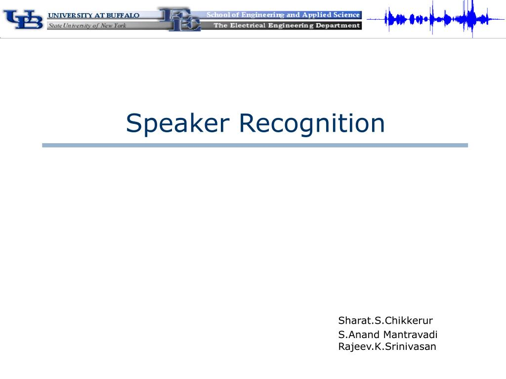 speaker recognition l.
