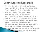 contributors to encopresis