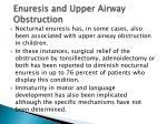 enuresis and upper airway obstruction