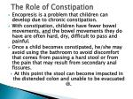 the role of constipation