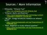 sources more information
