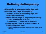 defining delinquency