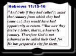 hebrews 11 15 16