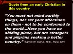 quote from an early christian in this country