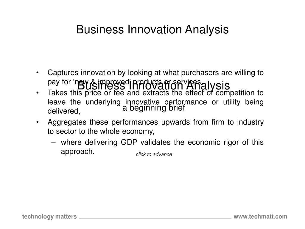 business innovation analysis l.