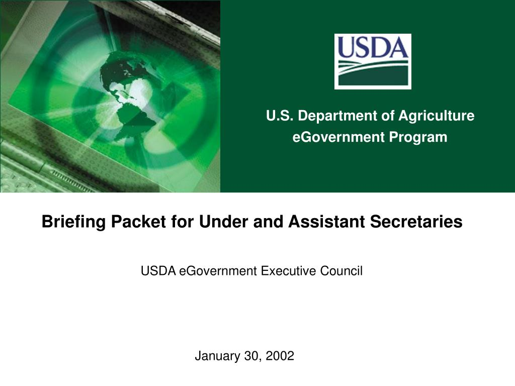 briefing packet for under and assistant secretaries usda egovernment executive council l.