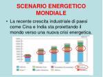 scenario energetico mondiale