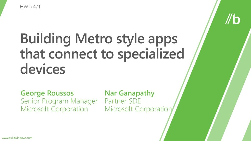 building metro style apps that connect to specialized devices l.