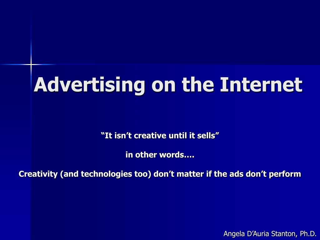 advertising on the internet l.