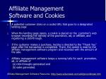 affiliate management software and cookies