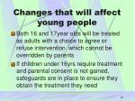 changes that will affect young people