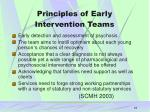 principles of early intervention teams