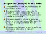 proposed changes in the mha