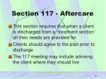 section 117 aftercare