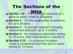 the sections of the mha