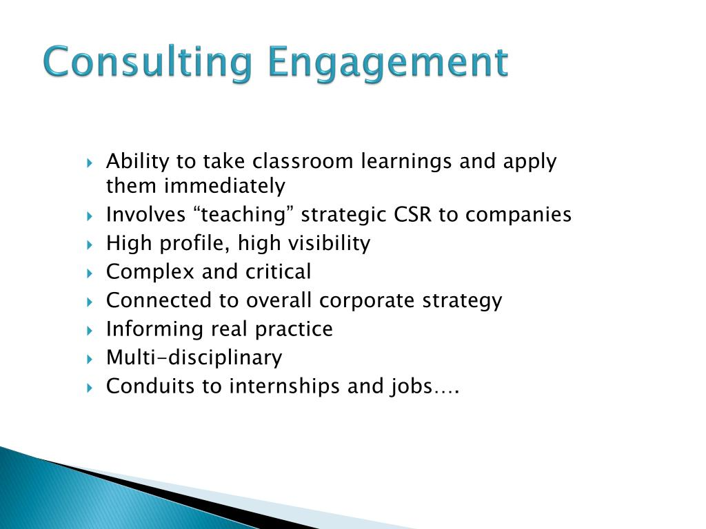 Consulting Engagement