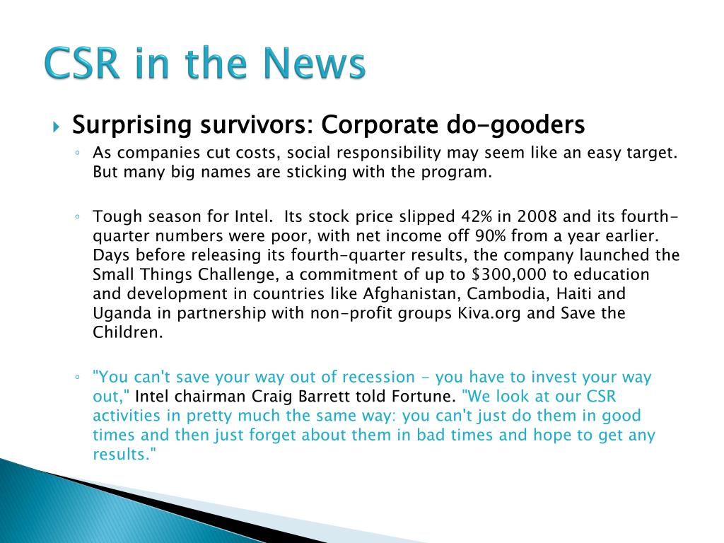 CSR in the News