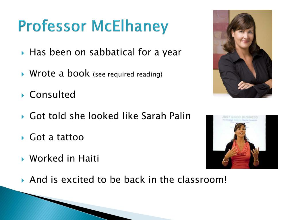 Professor McElhaney