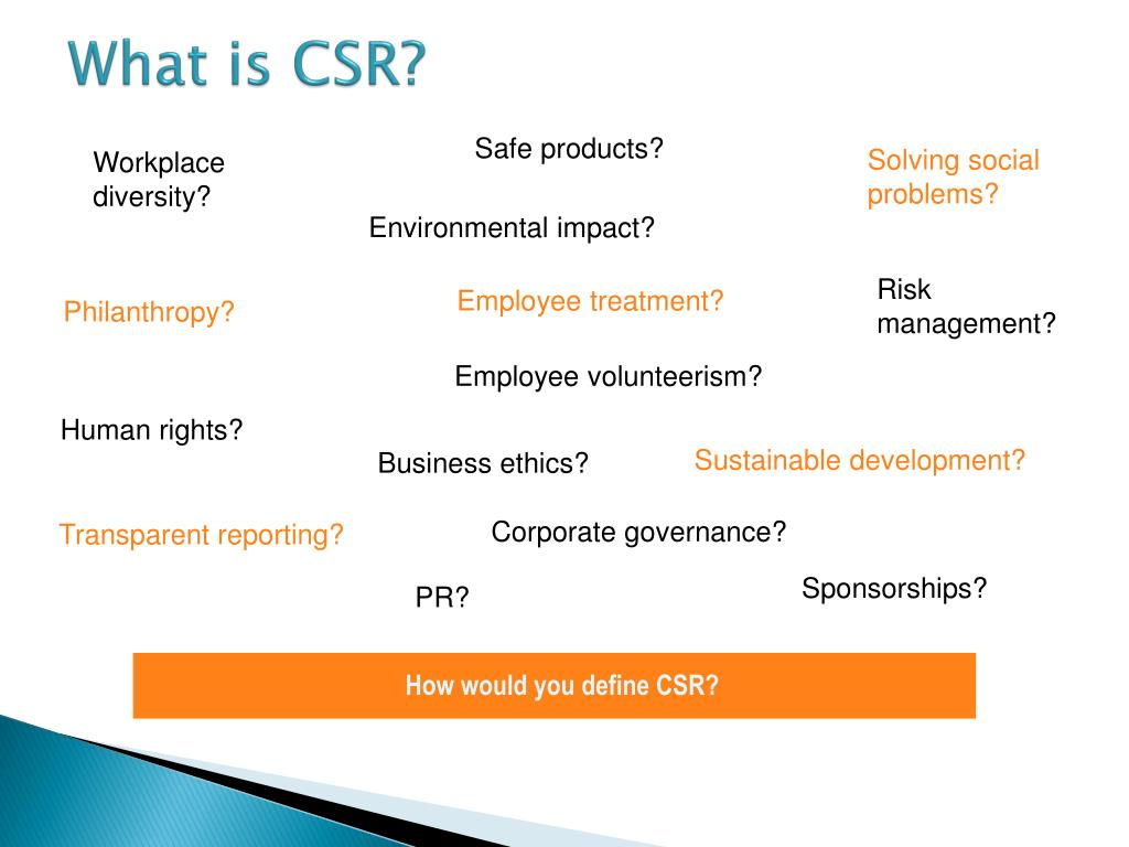 What is CSR?