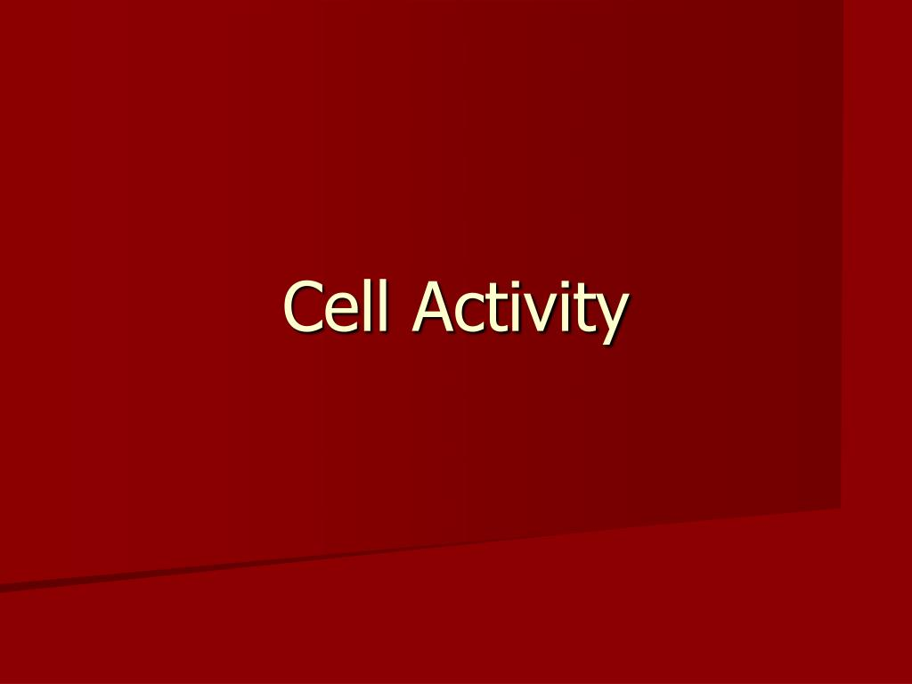 cell activity l.