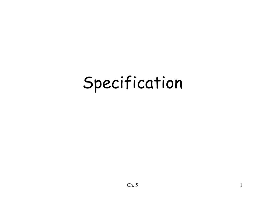 specification l.