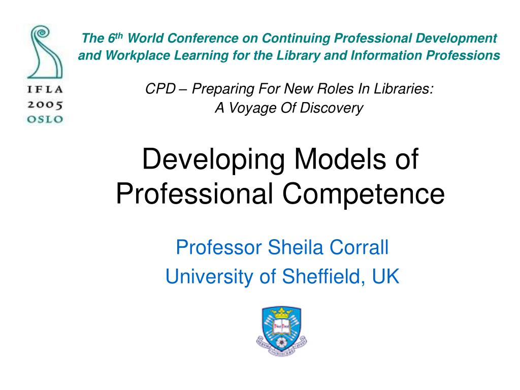 developing models of professional competence l.