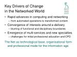 key drivers of change in the networked world