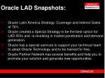 oracle lad snapshots