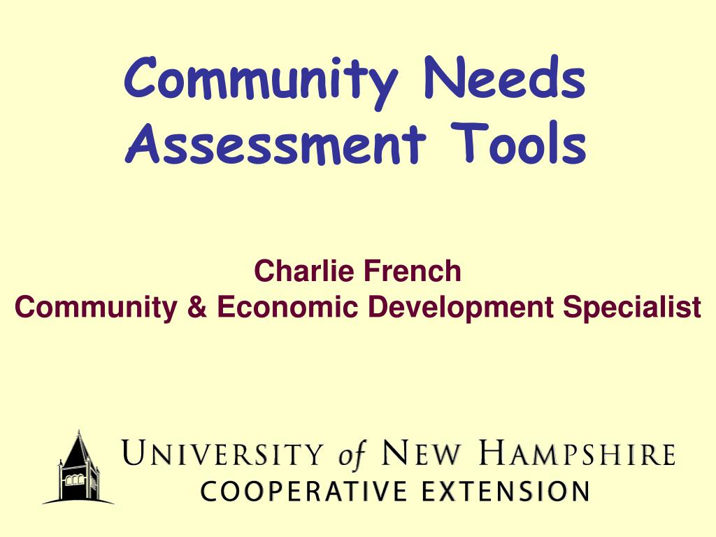 community needs assessment tools l.