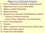 steps in an interview process