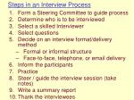 steps in an interview process19