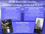 gcse business studies course content units 1 2 and 3