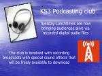 ks3 podcasting club