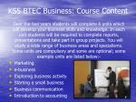 ks5 btec business course content