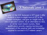 ocr nationals level 3