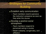 strategies for community building