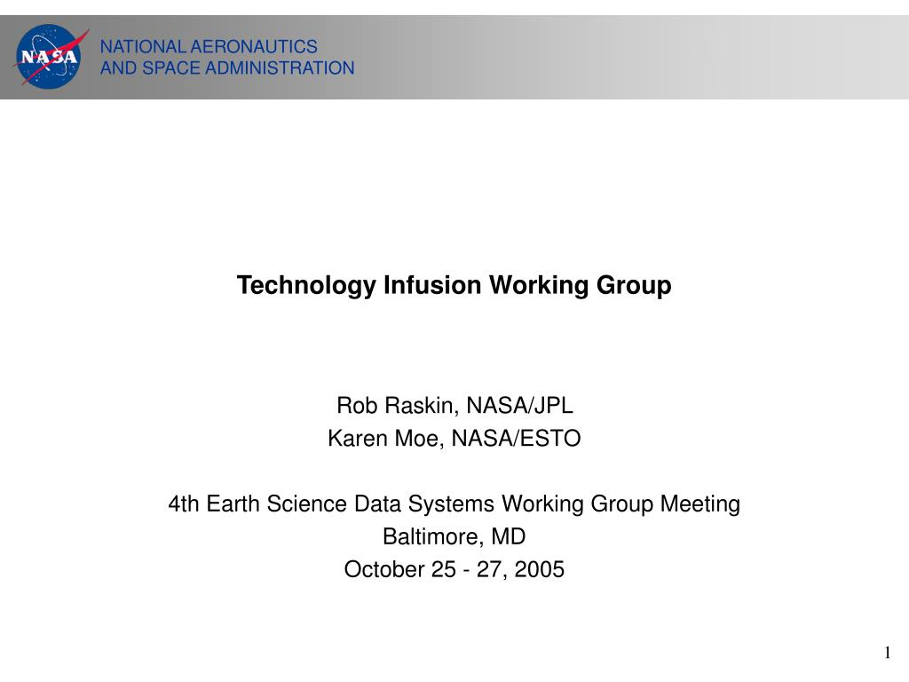 technology infusion working group l.