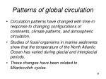 patterns of global circulation