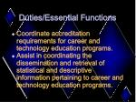 duties essential functions10