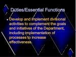 duties essential functions11