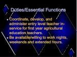 duties essential functions12