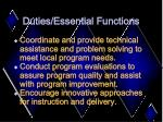 duties essential functions8