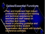 duties essential functions9