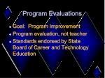 program evaluations