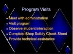 program visits